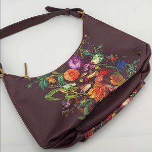 Elliot Luca maroon floral shoulder bag